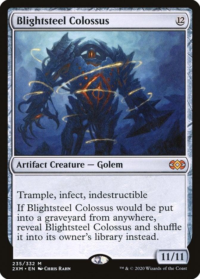 best-artifact-creatures-commander-blightsteel-colossus